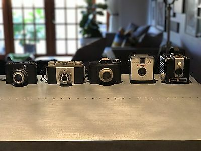 Vintage Camera Lot (5 cameras) - Sold AS IS