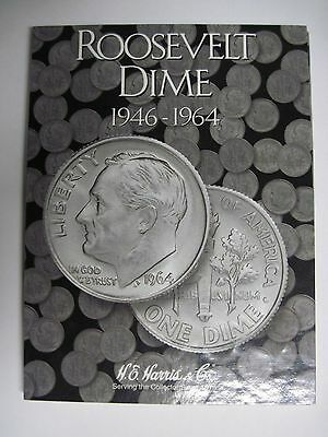 Partial Roosevelt Dime Set 75 Dimes in a Harris Folder Complete 1946 to 1979