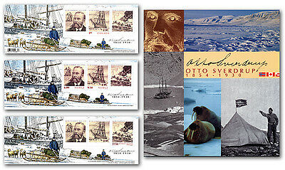 xca. NORWAY - GREENLAND - CANADA, OTTO SVERDRUP ALBUM 3 S/Ss JOINT ISSUE 2004