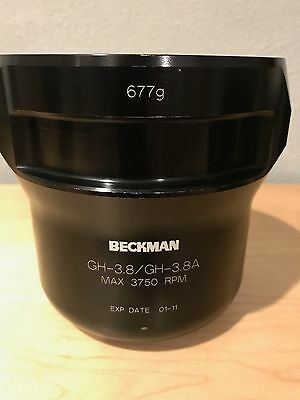 Beckman Coulter GH-3.8A Max 3750 RPM 677g Centrifuge Rotor Swing Bucket
