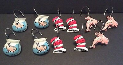11 Dr Seuss Cat In The Hat Shower Curtain Hooks Holders