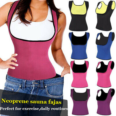 Women Sport Sweat Sauna Vest Body Shaper Slim Waist Trainer Cincher Shapewear EN