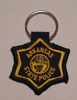 Arkansas State Police Patch Key Chain Key Fob - New!