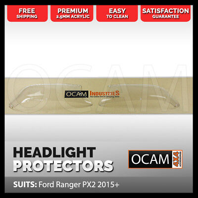 OCAM Headlight Protectors for Ford Ranger PX2 2015-2017 Lamp Covers