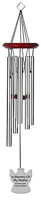 Chimesofyourlife mo-angel-19-silver Mother Angel Memorial Wind Chime 19-I... New