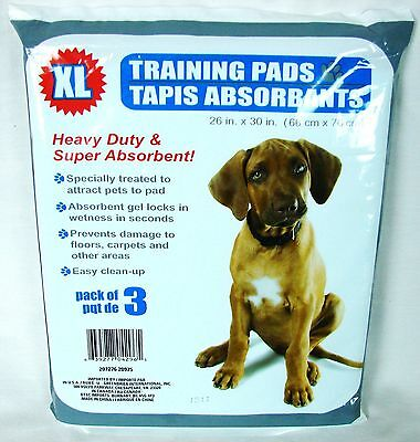 Puppy Training Pads Heavy Duty and Super Absorbent XL 26 x 30 Inch New