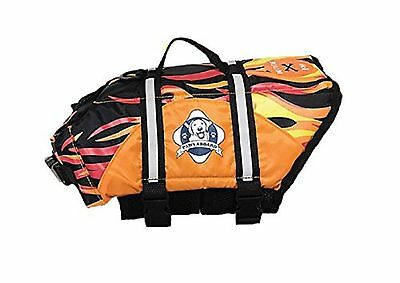 Paws Aboard Fido Pet Products Doggy Life Jacket X-Small Racing Flames New