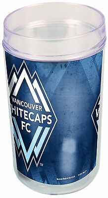 MLS Vancouver Whitecaps Fc 16 Ounce 4-Pack Tumblers New