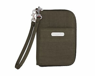 Baggallini Luggage Essential Wallet Dark Olive One Size New