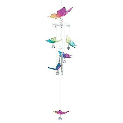 Rainbow Butterfly Windchime New