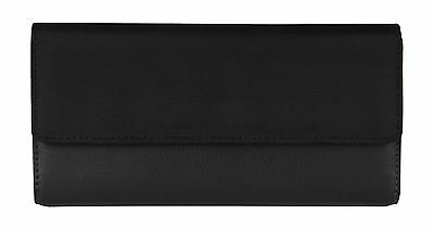 Travelon Safe Id Accent Flap Clutch Wallet One Size Black New