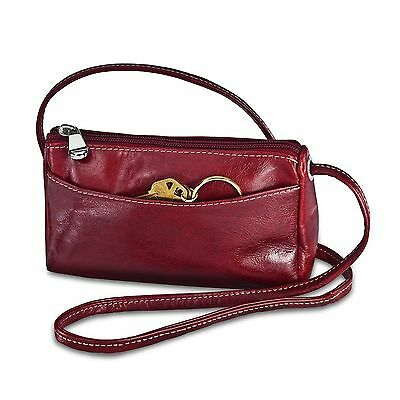 David King & Co. Florentine Top Zip Mini Bag 3501 Cherry One Size New