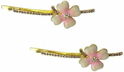 Caravan Unique Extra Large Bobby Pin Flower is Decorated with Epoxy and 3... New