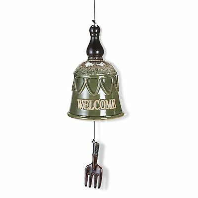 "Abbott27-HARMONY/510 Garden Bell with Fork ""Welcome"" New"