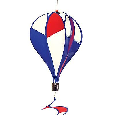 In The Breeze Patriot Hot Air Balloon Wind Spinner 6-Panel New