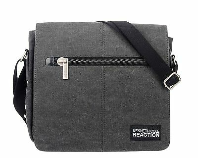Kenneth Cole Flapover Day Bag Charcoal Under Seat New
