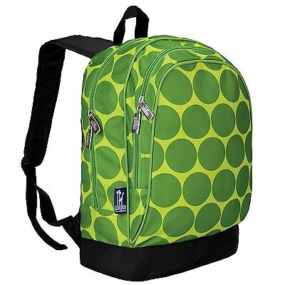 Wildkin Big Dots Sidekick Backpack Green Big Dot Green New