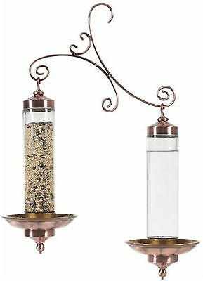 Perky-Pet 369 Birdscapes Copper Sip and Seed Feeder New
