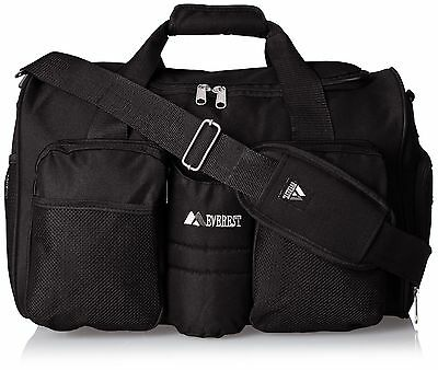 Everest Gym Bag with Wet Pocket Black One Size New