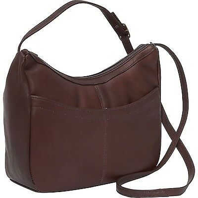 David King & Co. Top Zip Hobo 1034 Caf One Size Café New