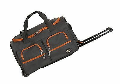 Rockland Rolling Duffle Bag Charcoal 22-Inch One Size New