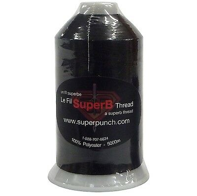 SuperB Embroidery polyester thread 5000m. Black 020 1 New