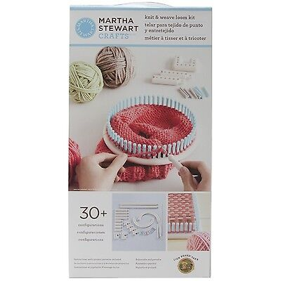 Lion Brand Yarn Martha Stewart Crafts Knit and Weave Loom Kit New