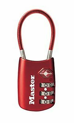 Master Lock 4688DRED TSA Accepted Cable Luggage Lock Red New