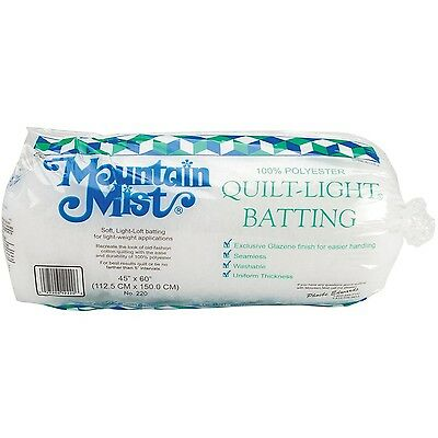 Mountain Mist Quilt-Light Polyester Batting Crib/Craft 45-Inch by 60-Inch New