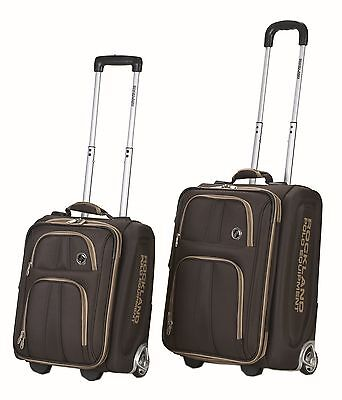 Rockland F122 Polo Equipment Luggage Set Brown Large 2-Piece New