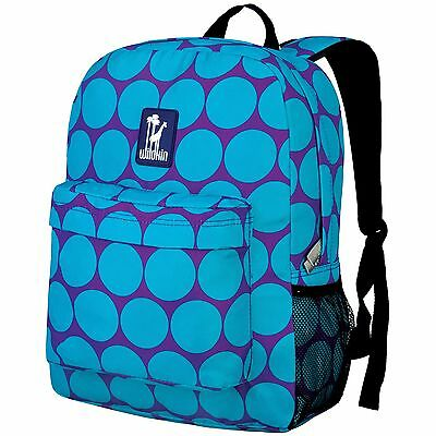 Wildkin Big Dots Crackerjack Backpack Aqua New