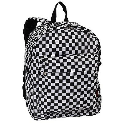 Everest Luggage Printed Pattern Backpack Checkered Medium New