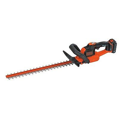 BLACK + DECKER LHT321BT Smartech Max Lithium Power Cut Hedge Trimmer 22-I... New