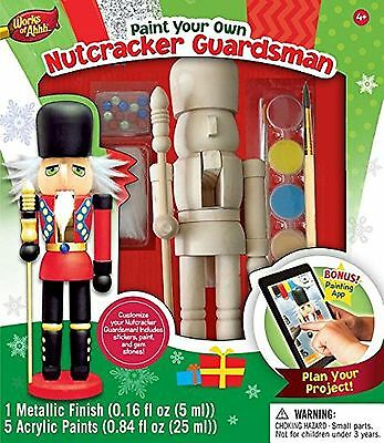 Masterpieces Works of Ahhh Nutcracker Guardsman Large Wood Paint Kit New