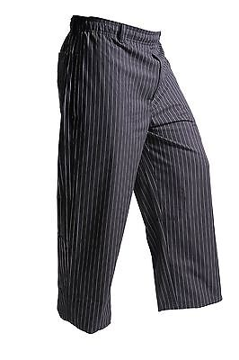 Mercer Culinary M60030BFPM Millennia Unisex Black Cook Pants with White F... New