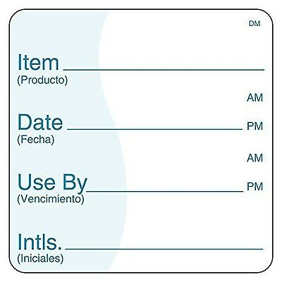 DayMark IT112438 DissolveMark Item/Date/Use by Bilingual Dissolvable Labe... New