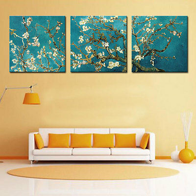 Wall Art Almond Blossom Picture Print Van Gogh Artwork Painting Home Decor Frame