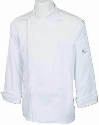 Mercer Culinary M61010WHS Genesis Unisex Jacket with Mercer Logo Buttons ... New