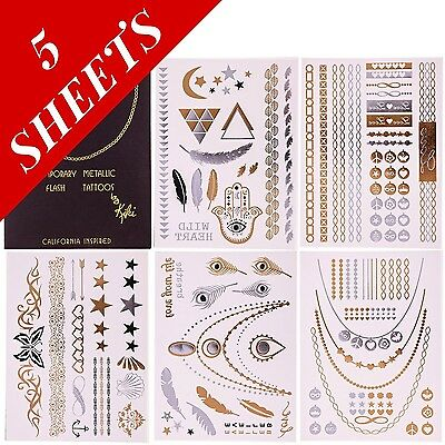 Flash Temporary Tattoos by Kiki - Best Premium Metallic Jewelry Tattoos A... New