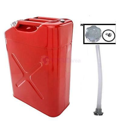 20L Liter 5 Gallon Gal Jerry Steel Tank  Red Fuel Can Gas Storage Gasoline