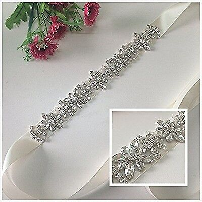 TRLYC Blush Bridal/Wedding Sash Crystal Bridal Belt Crystal Rhinestone Ap... New