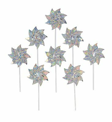 In the Breeze 8-Piece Pinwheels Silver Sparkle New