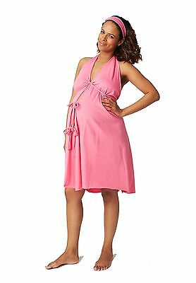 Pretty Pushers Cotton Jersey Labor Gown Hot Pink One Size New