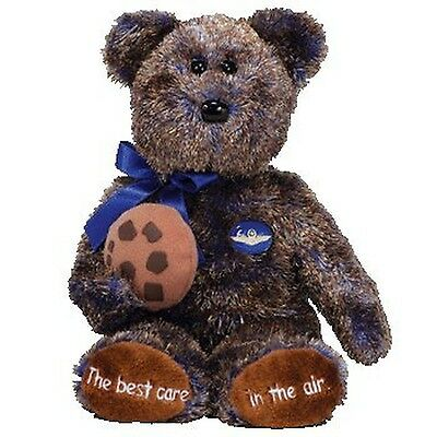 TY Beanie Baby - CHOCOLATE CHIP the Bear (Midwest Airlines Exclusive) New