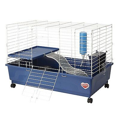 Kaytee My First Home Deluxe Guinea Pig 2-Level Cage with Caster Wheels New