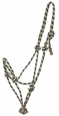 Gatsby Classic Cowboy Rope Halter - Black/Beige Horse New