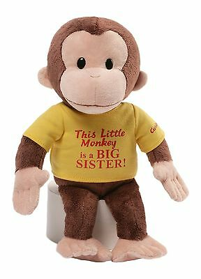 "Gund 4053810.0 Curious George 12"" Big Sister New"