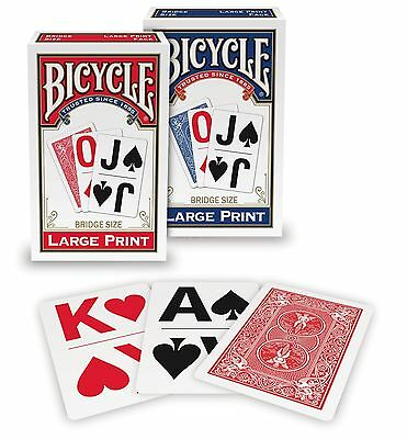 Bicycle Large Print Playing Cards (Colors May Vary) 1-pack New