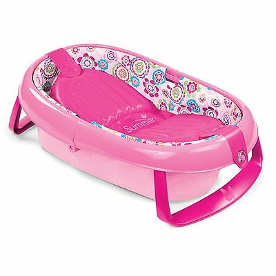 Summer Infant EasyStore Comfort Tub Pink one size New