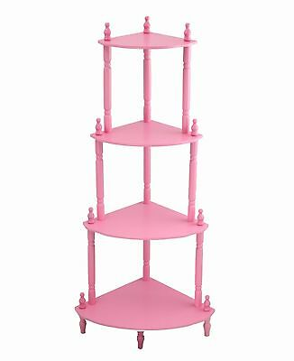 Frenchi Home Furnishing Kid's 4-Tier Shelves Pink New